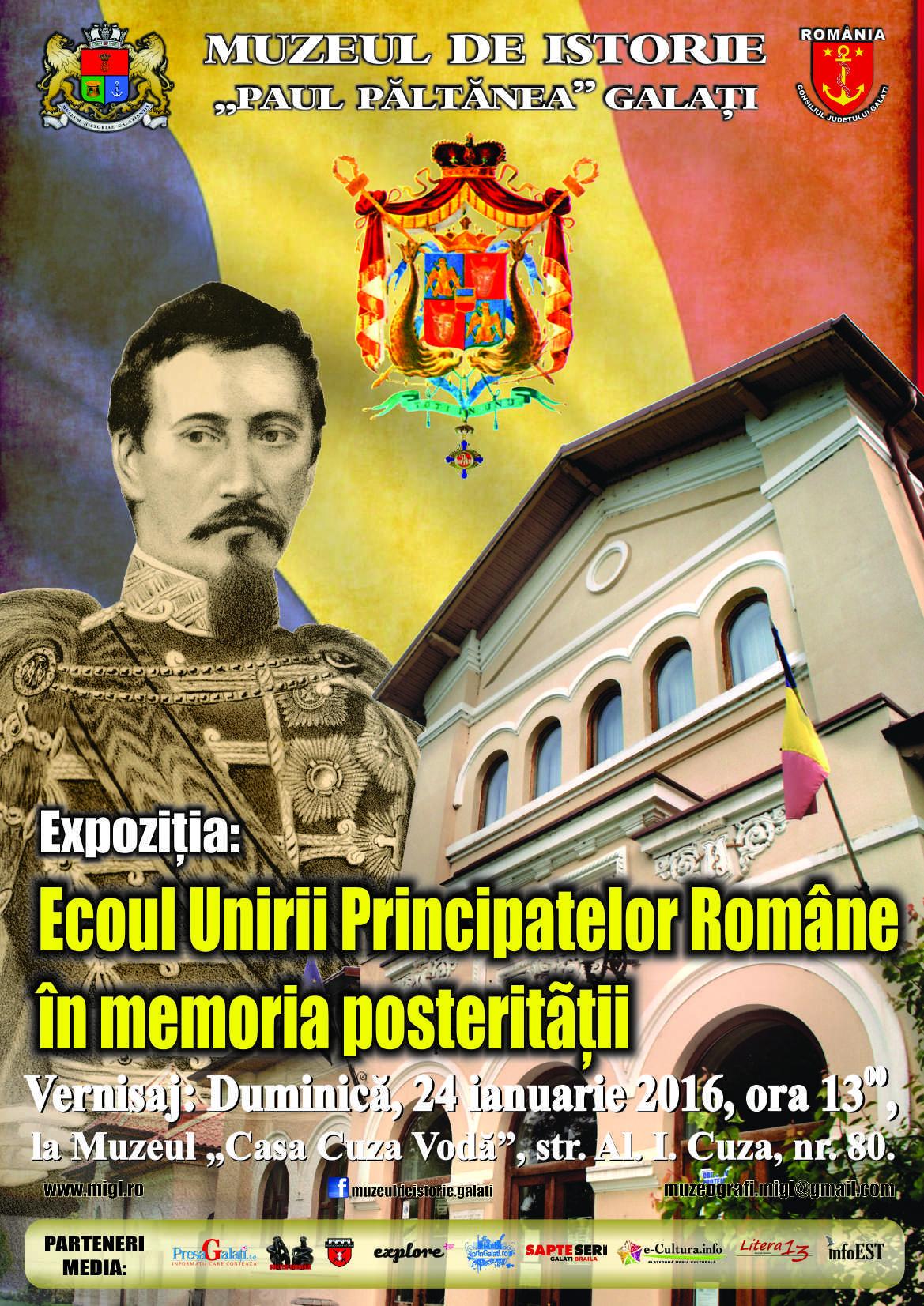 Afis expozitie unirea principatelor